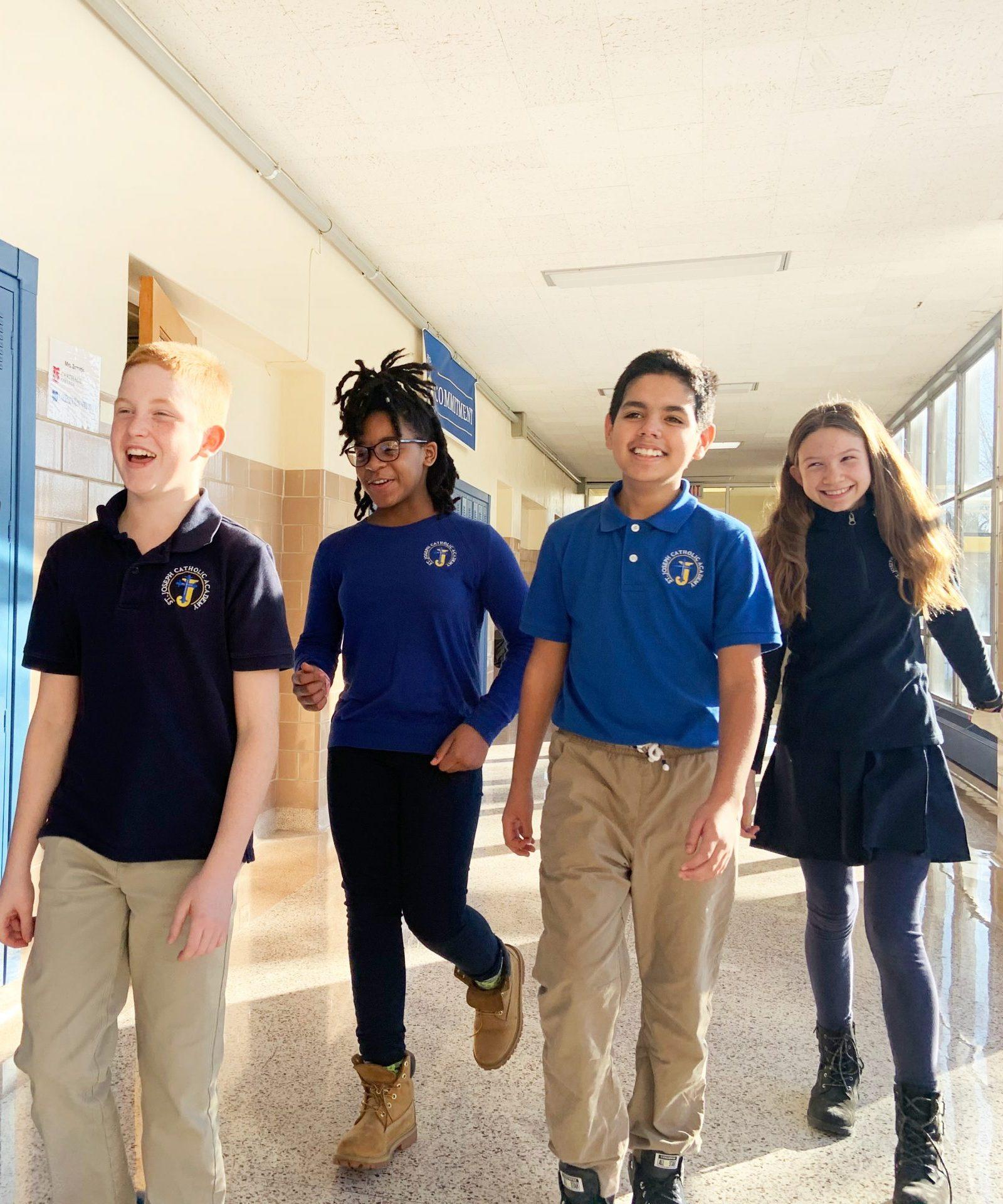 Middle School Kids In Hallway 1 21 21