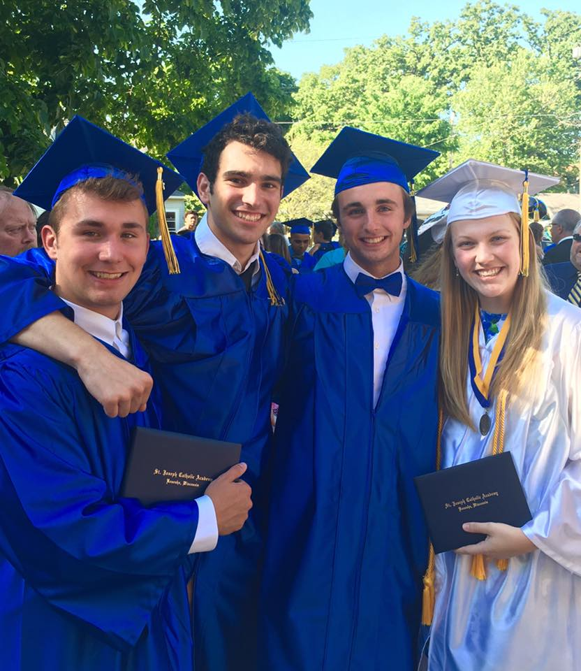 Graduation 3 Boys 1 Girl Sheard